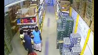 Impressive technique to Steal a carton of beer in Supermarket