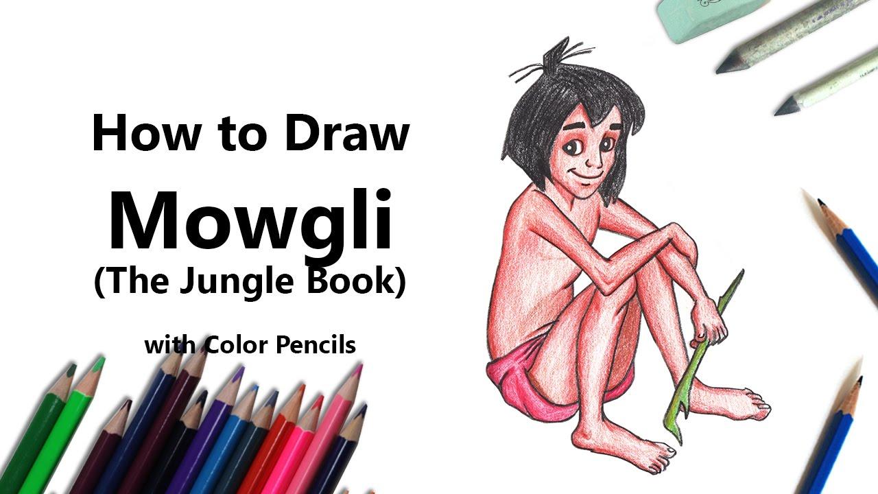 Mowgli from the jungle book colored pencils drawing mowgli from the jungle book with color pencils drawingtutorials101 com