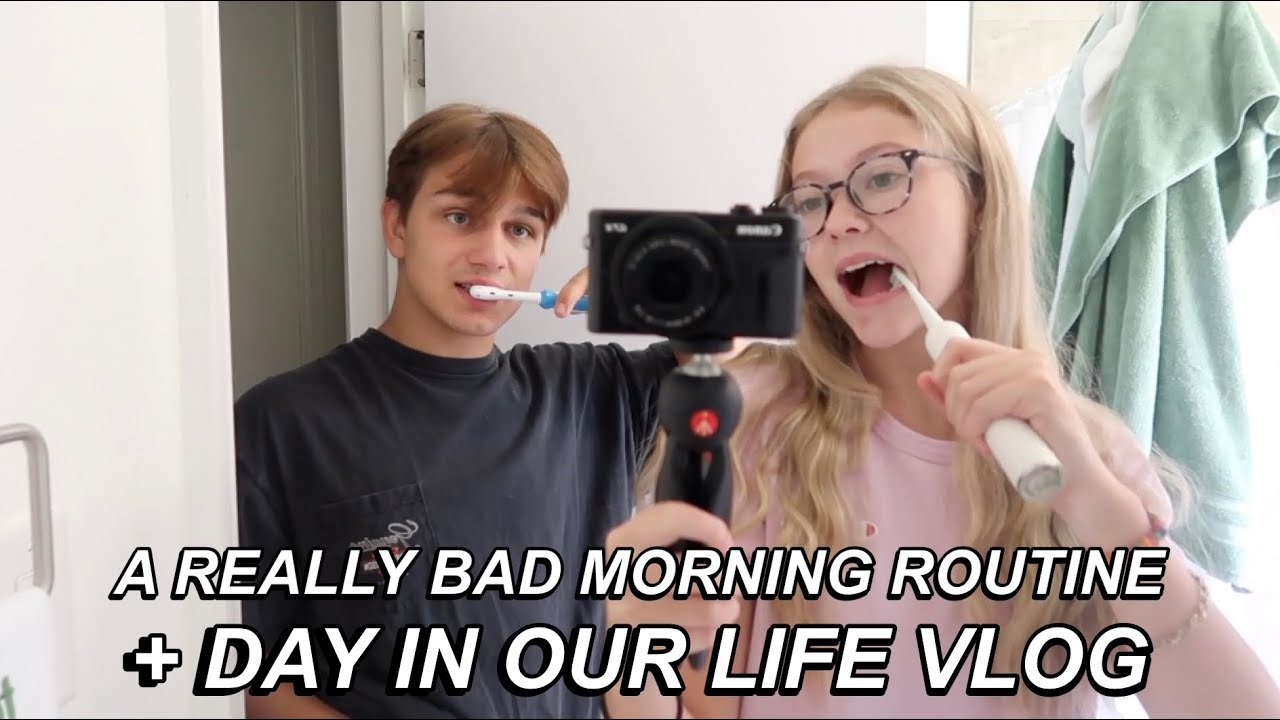 A REALLY BAD MORNING ROUTINE + DAY IN OUR LIFE VLOG