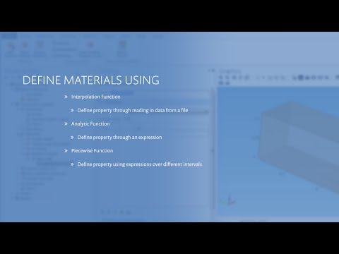 How to Specify Material Properties with Functions in COMSOL Multiphysics