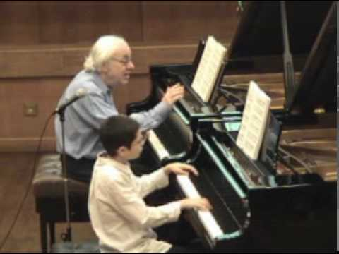 Richard Goode masterclass-Ariel plays Mozart Sonata K330-3/6