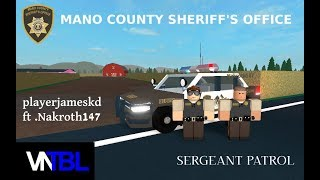 Roblox Mano County Sheriff's Office - Sergeant Patrol (ft. Nakroth147)