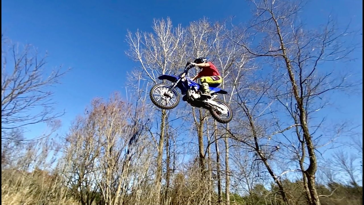 Home Built Motocross Track through Woods - First Full Lap!