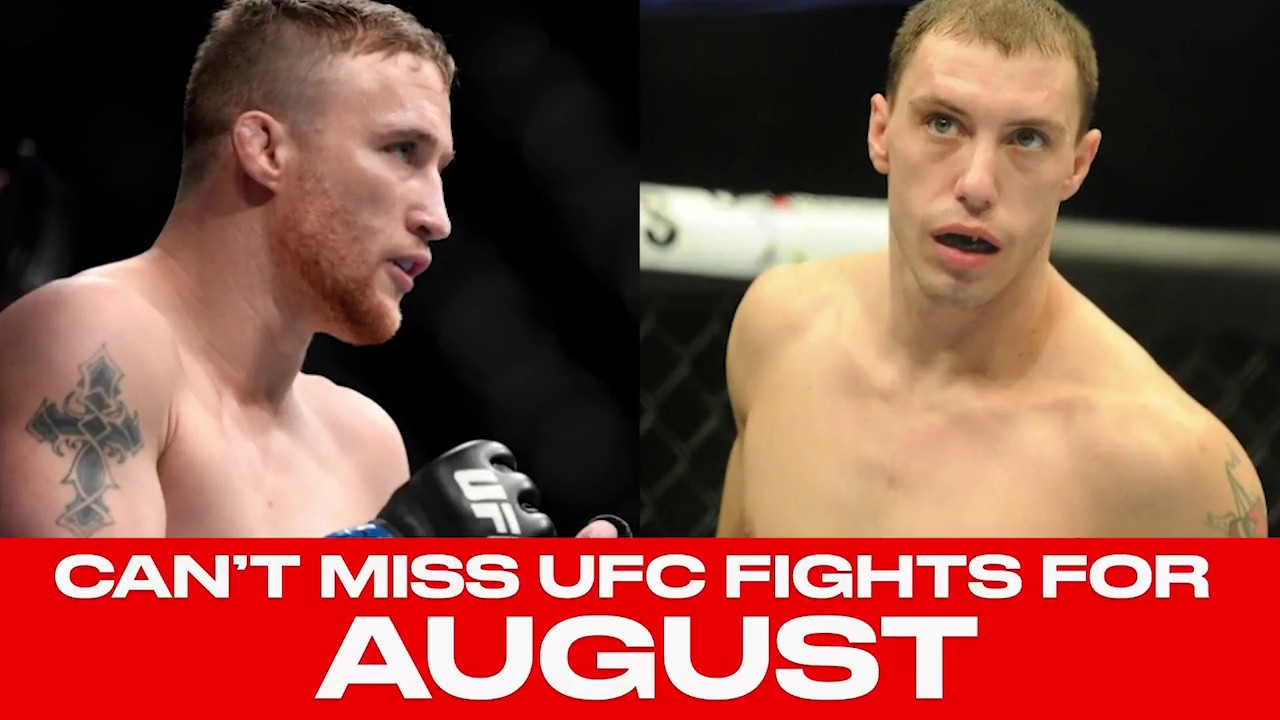 UFC Schedule: Top 10 Must-Watch Fights For August 2018