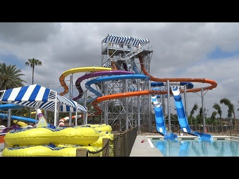 Knott's Soak City expansion construction & water park tour at Knott's Berry Farm