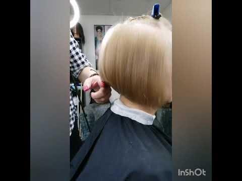 Боб-каре на тонкие редкие волосы