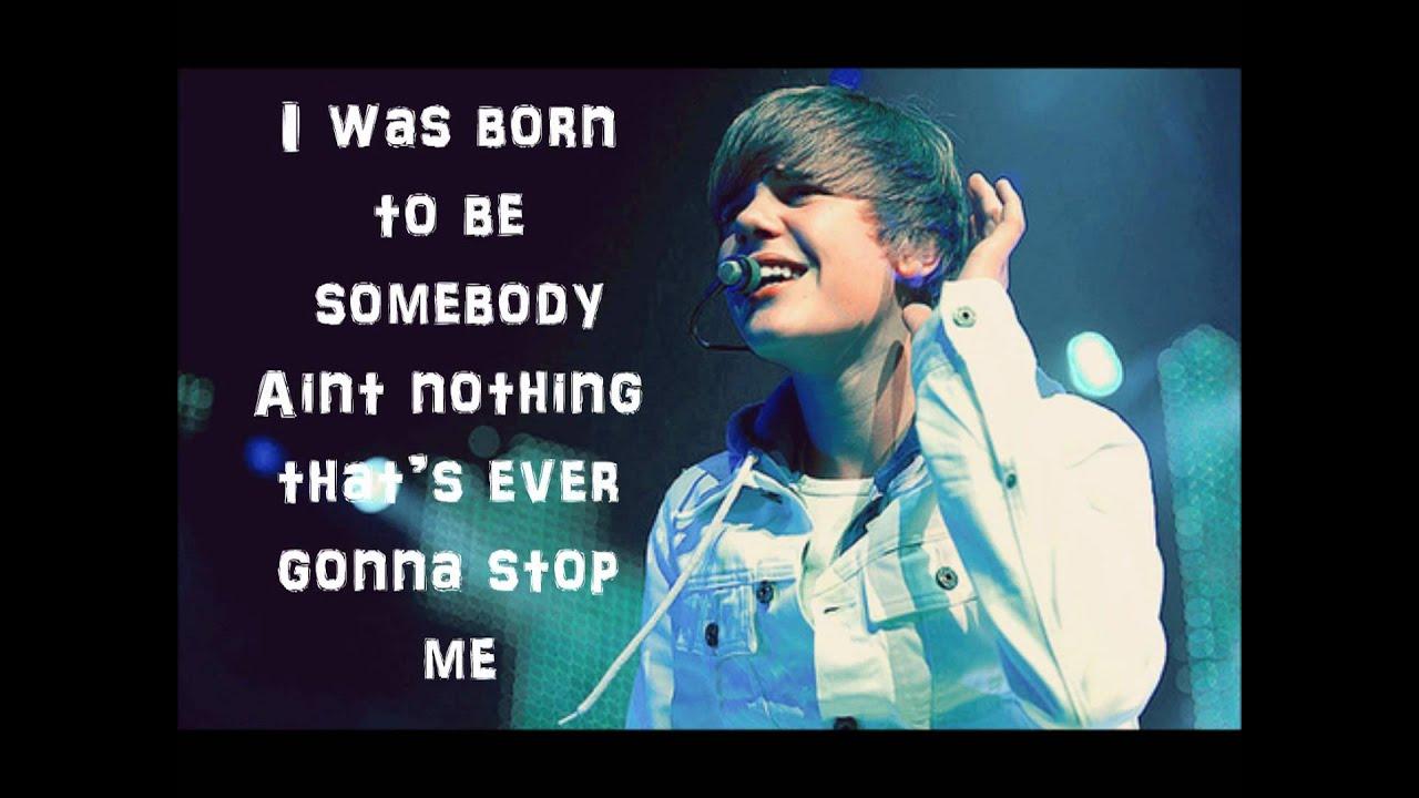 Somebody to love- Justin Bieber Lyrics - YouTube