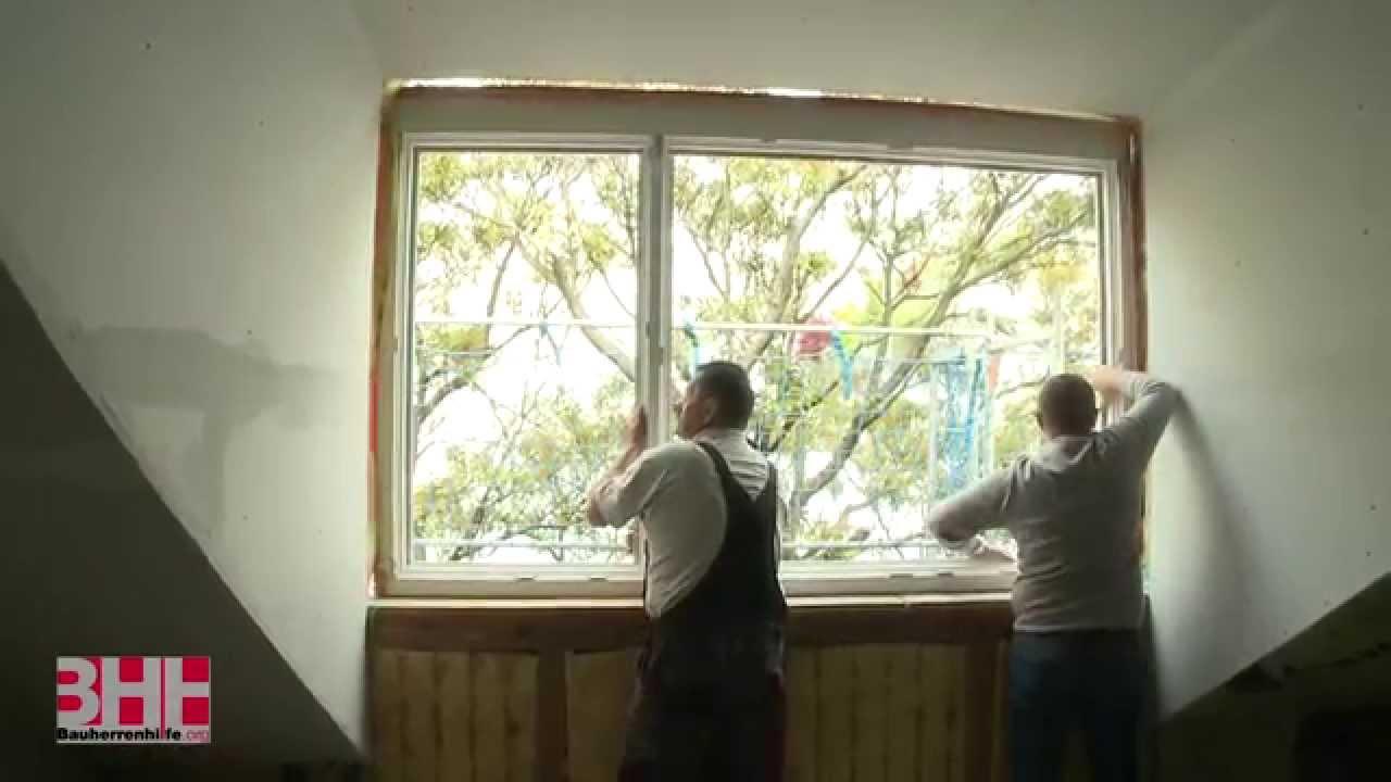 ÖNORM gerechter Einbau von Holz-Alu Fenster - YouTube