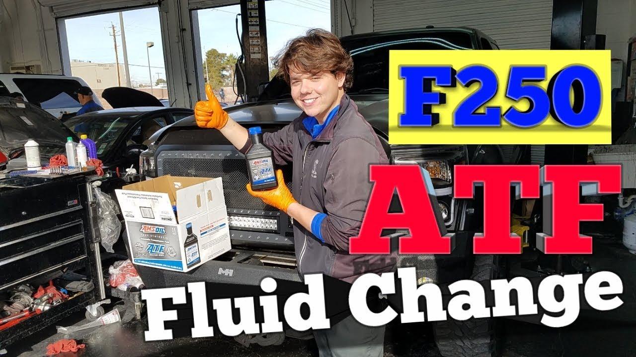 2012 Ford F250 Super Duty transmission fluid change