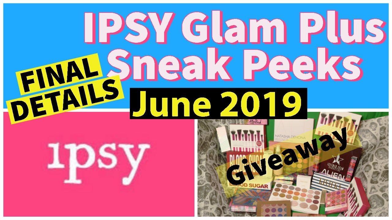 Ipsy Glam Bag Plus June 2019 Sneak Peeks