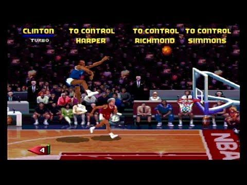 NBA Jam TE Sega Saturn Bill The Man Clinton