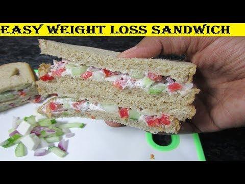 Weight Loss Sandwich | Sandwich For Fat Loss | Weight Loss Recipes | High Fiber Low Calorie Foods