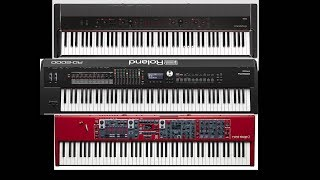 ROLAND RD 2000 VS KORG Grandstage VS NORD Stage 3   Battle on Stage. Fight !!!