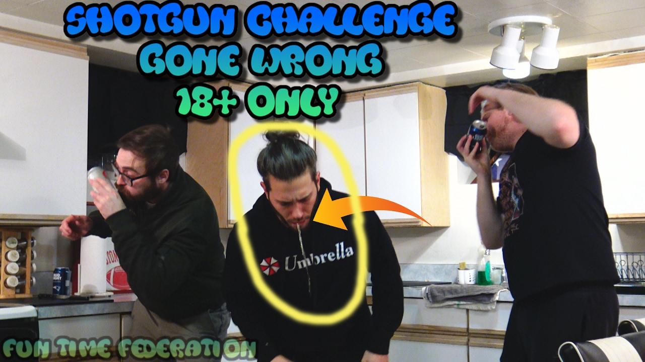 Shotgun Beer Challenge (Gone Wrong 18+ Only!)