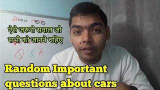 Random Q&A about Cars #Q&A