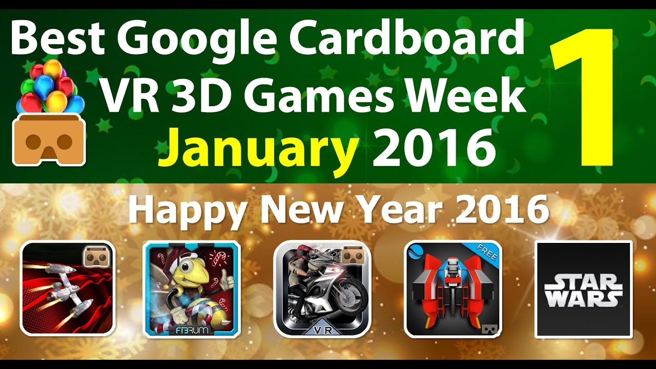 best google cardboard vr games week 1 january 2016 for android ios youtube. Black Bedroom Furniture Sets. Home Design Ideas