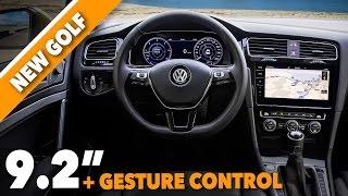 2017 new volkswagen golf restyling interior design + discovery pro + active info display [gommeblog]