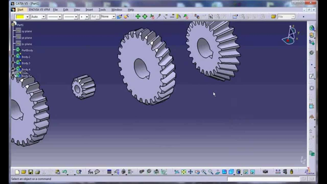 Gear 3d Modeling In Catia V5 By Programming  Efficiency Of Vbscript