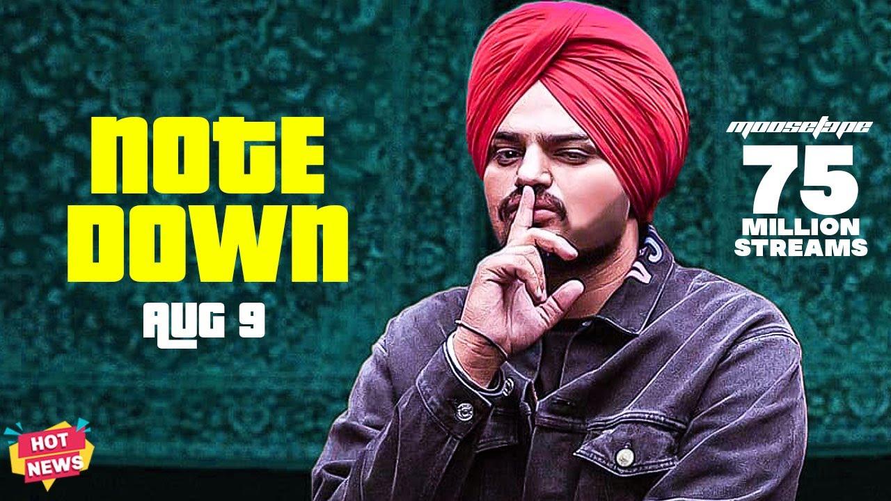 Sidhu Moose Wala Note Down Aug 9 | Celebrity Killer | Moosetape 75 Million Streams | Hot News