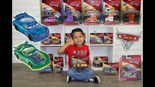 GIANT 2018 CARS 3 TOY HAUL AND UNBOXING SHRIRAM,DAN HAULIN,ERIC BRAKER,SPIKEY FILLUPS, CARS 3 CB