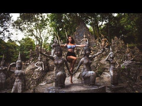 SECRET BUDDHA GARDEN AND WATERFALLS   KOH SAMUI THAILAND