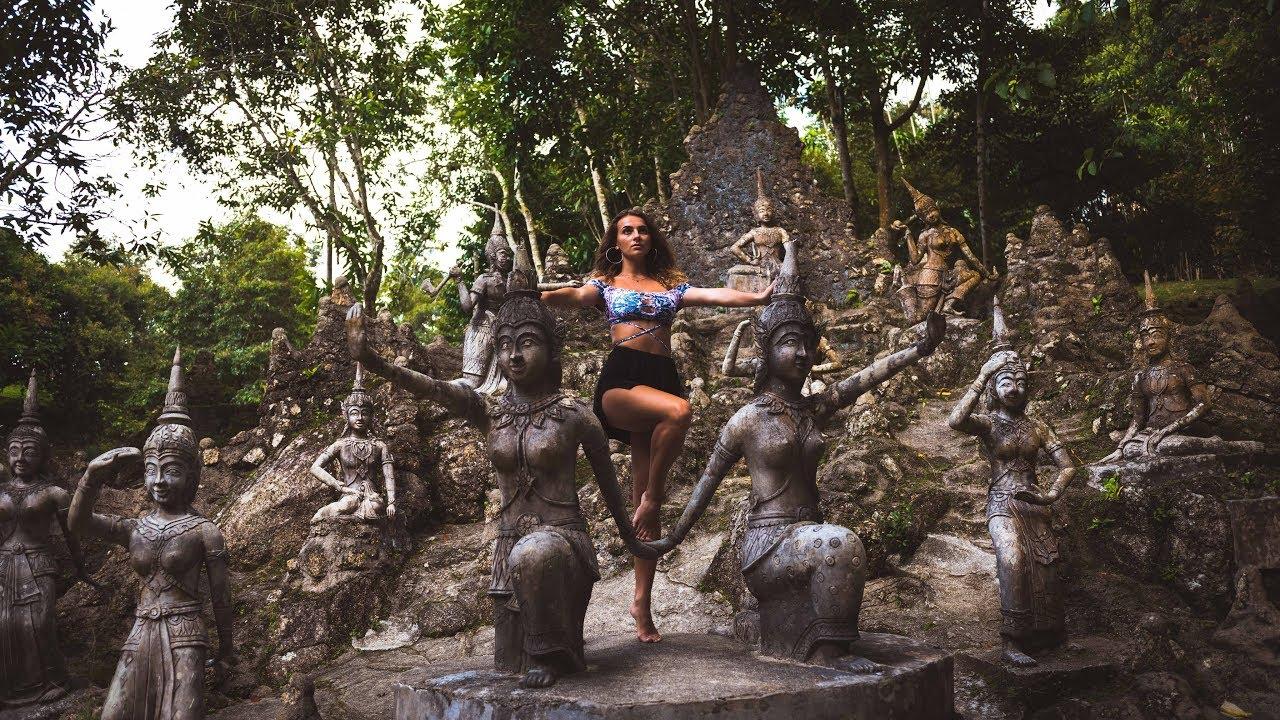 Secret Buddha Garden And Waterfalls Koh Samui Thailand Youtube