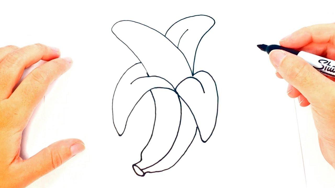 C mo dibujar un pl tano paso a paso dibujo f cil de for Comedor facil de dibujar