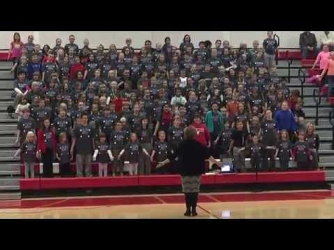 God Bless The USA - sung by Adams Central Elementary Schools - 2015