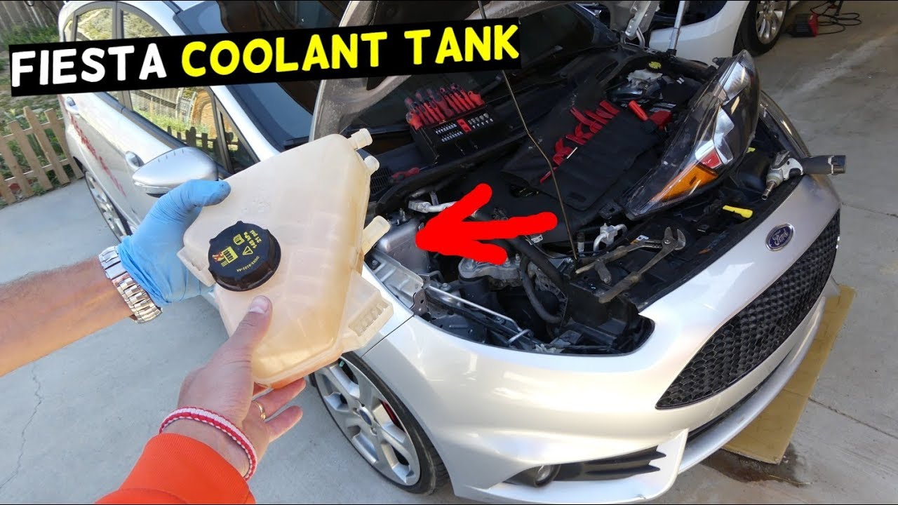 Ford Fiesta Overflow Coolant Tank Reservoir Replacement Removal