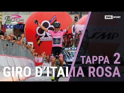 Marianne Vos (CCC- Liv) ha vinto la seconda tappa del Giro d'Italia Rosa