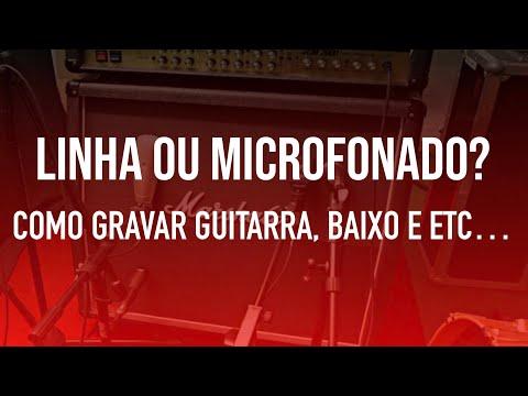 TUTORIAL DE COMO GRAVAR Guitarra e Baixo. LINHA ou MICROFONADO? Guia do uso de Direct Box