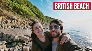 What is a British Beach Like? Sand Bay North Somerset UK Travel Vlog Part 2