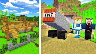 ARMATA TNT VS DOM XD   Minecraft Ferajna