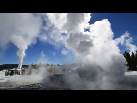 Castle Geyser (with Old Faithful), Yellowstone - 2014