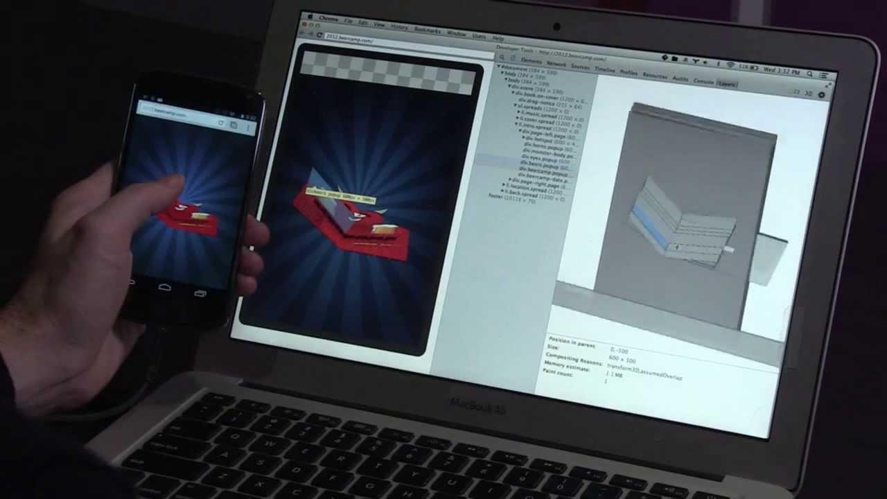 Screencast with Chrome DevTools for Mobile