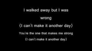(I Can't Make It) Another Day - Michael Jackson (Lyrics)