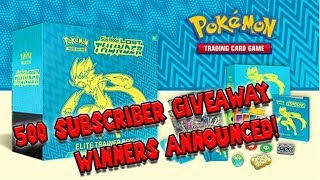 500 Subscriber Giveaway Winners Announced! BONUS PRIZES?
