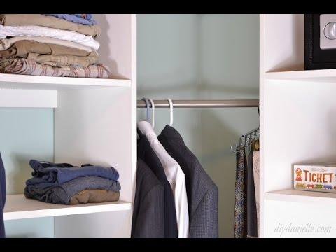 DIY Master Closet Shelving   YouTube