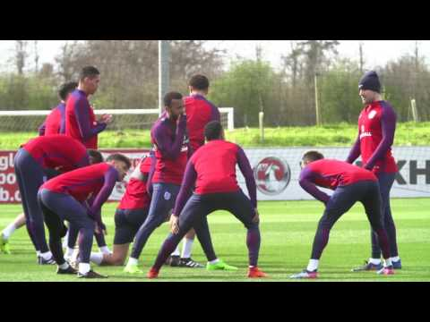 England train ahead of Germany clash