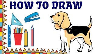 How to draw puppy dog easy step by step and puppy dog coloring