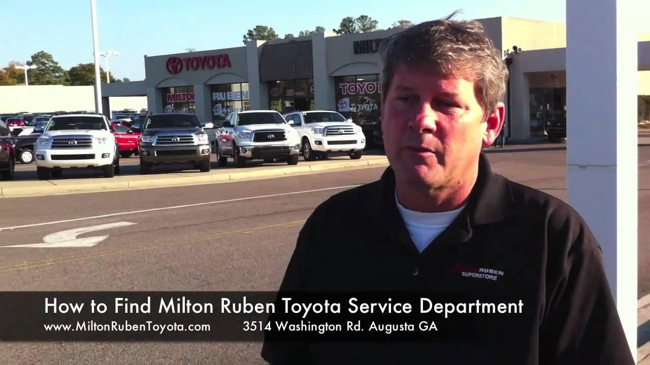Milton Ruben Toyota Service >> How To Get To Milton Ruben Toyota Service Department Youtube