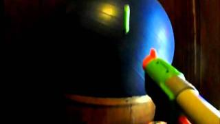 shooting a yoga ball slow motion