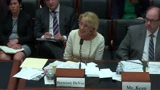 Rep. David Trone Asks Secretary DeVos about Racial Segregation in Public Schools