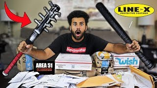 Someone Sent Me MYSTERY Packages Filled With AREA 51 SURVIVAL GEAR!! *RAID SURVIVAL CHALLENGE*