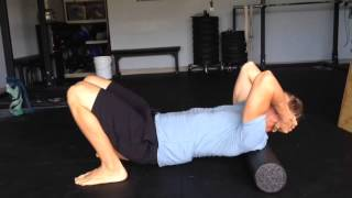 How to Fix Upper Back and Neck Pain with a Foam Roll