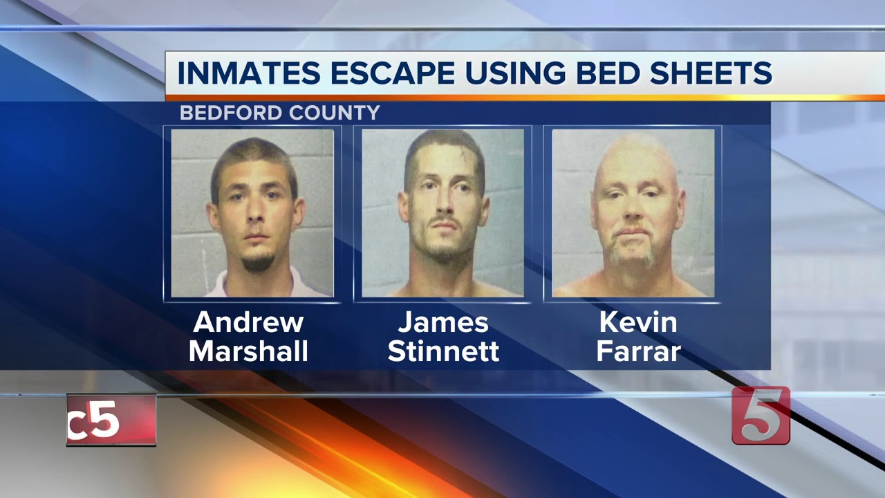 3 Inmates Escape From Bedford County Jail Through Air Duct