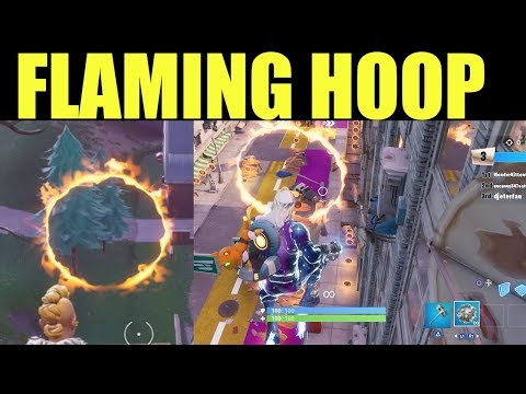 Jump Through ALL 6 Flaming Hoops (DOWNTOWN DROP Challenges) Fortnite