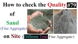 How to check Quality of sand(Fine Aggregate)  in Urdu/Hindi