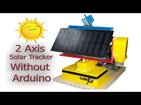 Dual Axis Solar Tracker Explained | How to make solar tracker without  Arduino