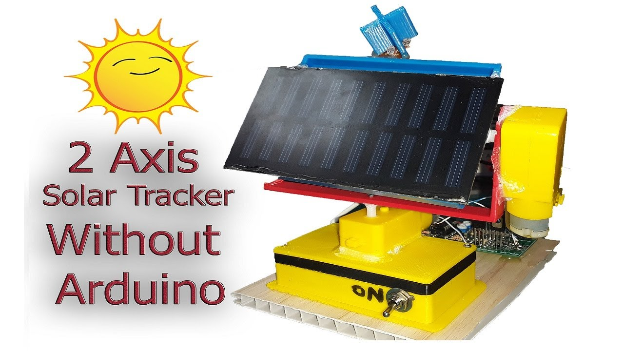 Dual Axis solar tracker without microcontroller ~ Simple
